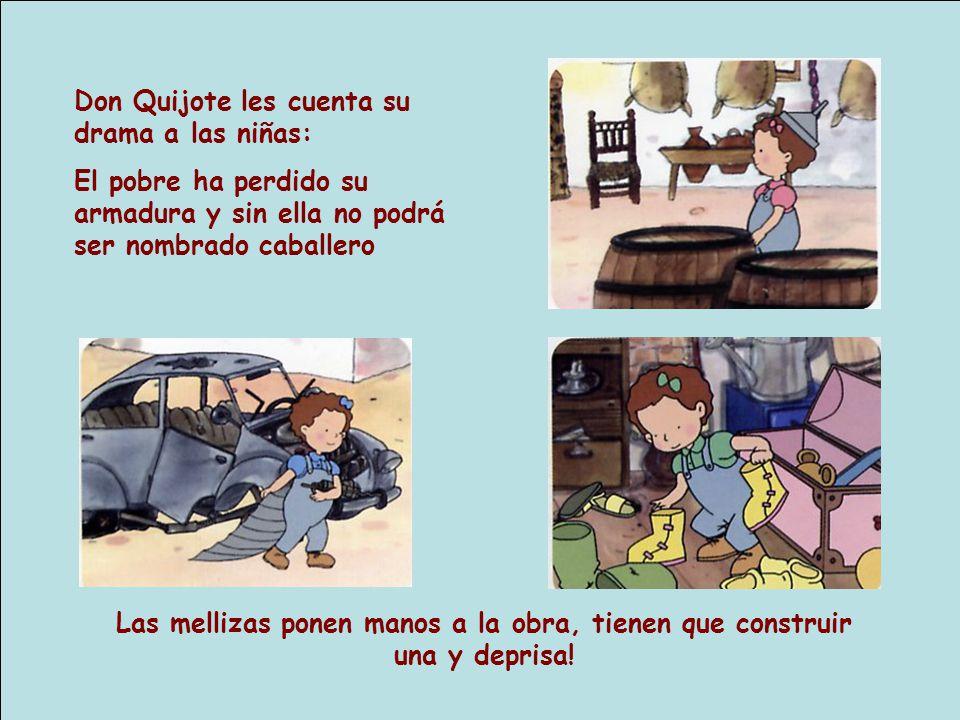 Don Quijote les cuenta su drama a las niñas: