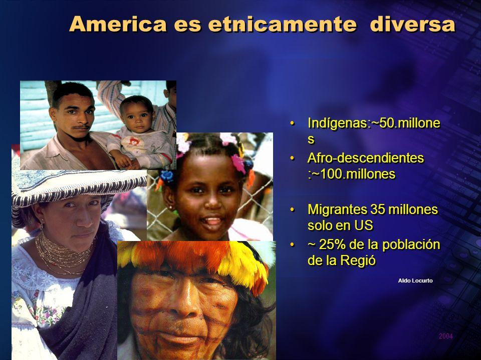 America es etnicamente diversa