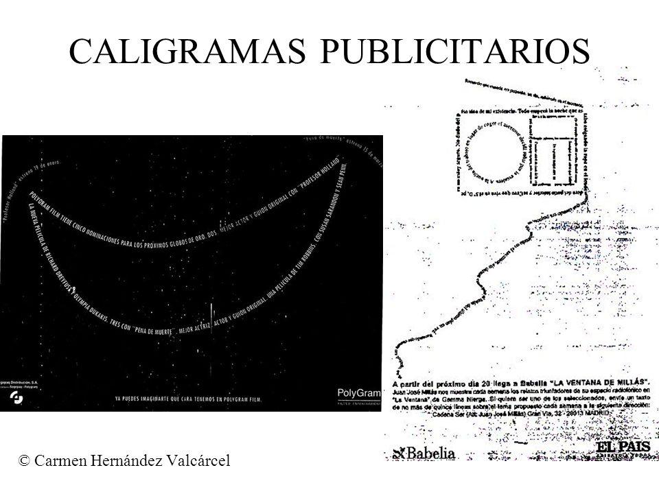 CALIGRAMAS PUBLICITARIOS