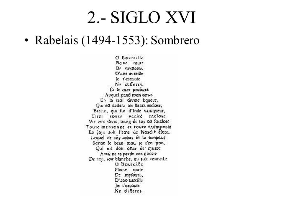 2.- SIGLO XVI Rabelais (1494-1553): Sombrero