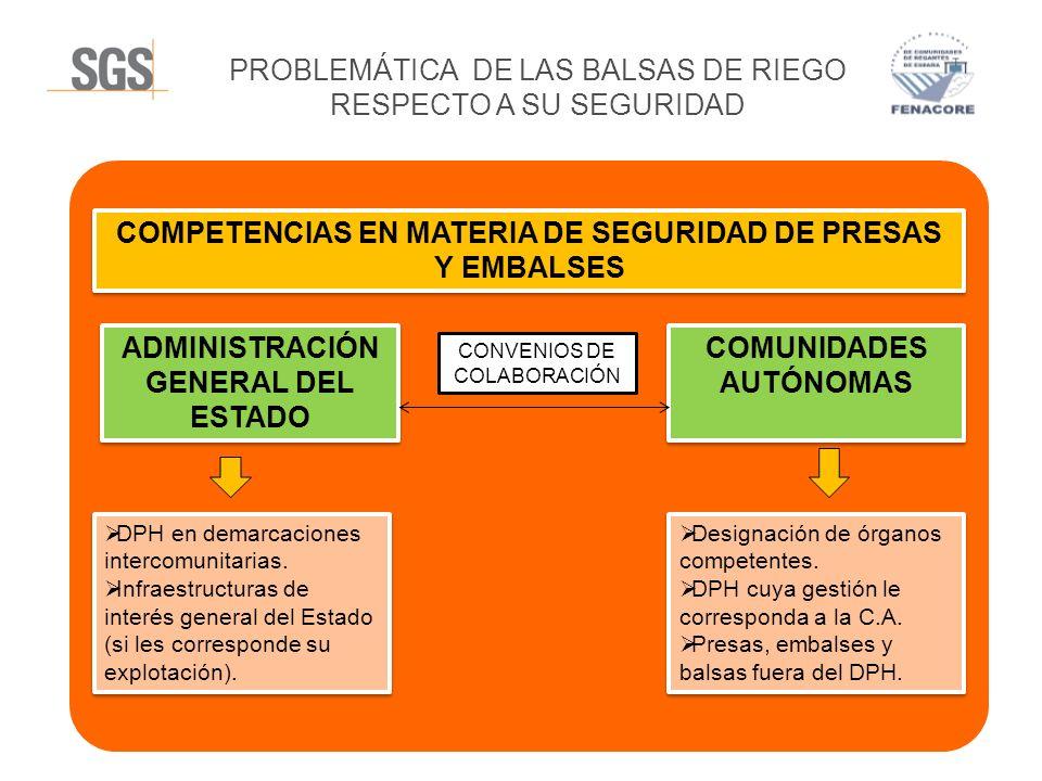 PROBLEMÁTICA DE LAS BALSAS DE RIEGO RESPECTO A SU SEGURIDAD