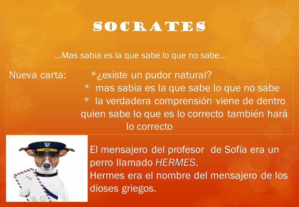SOCRATES Nueva carta: *¿existe un pudor natural