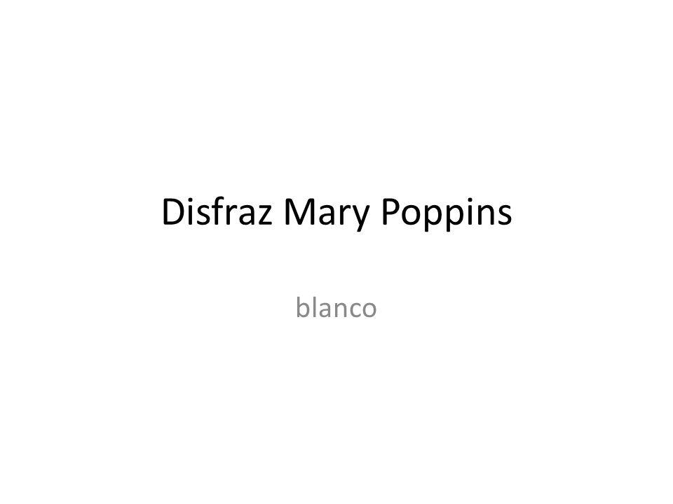 Disfraz Mary Poppins blanco