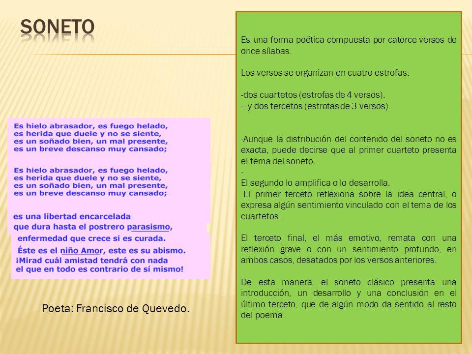soneto Poeta: Francisco de Quevedo.