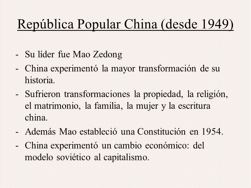 República Popular China (desde 1949)