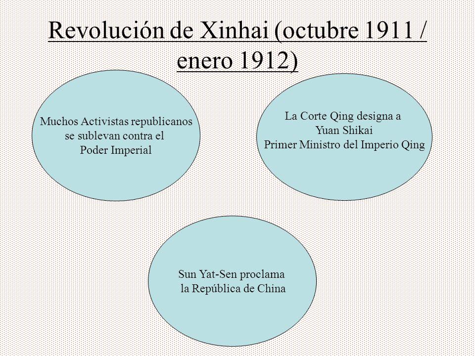 Revolución de Xinhai (octubre 1911 / enero 1912)