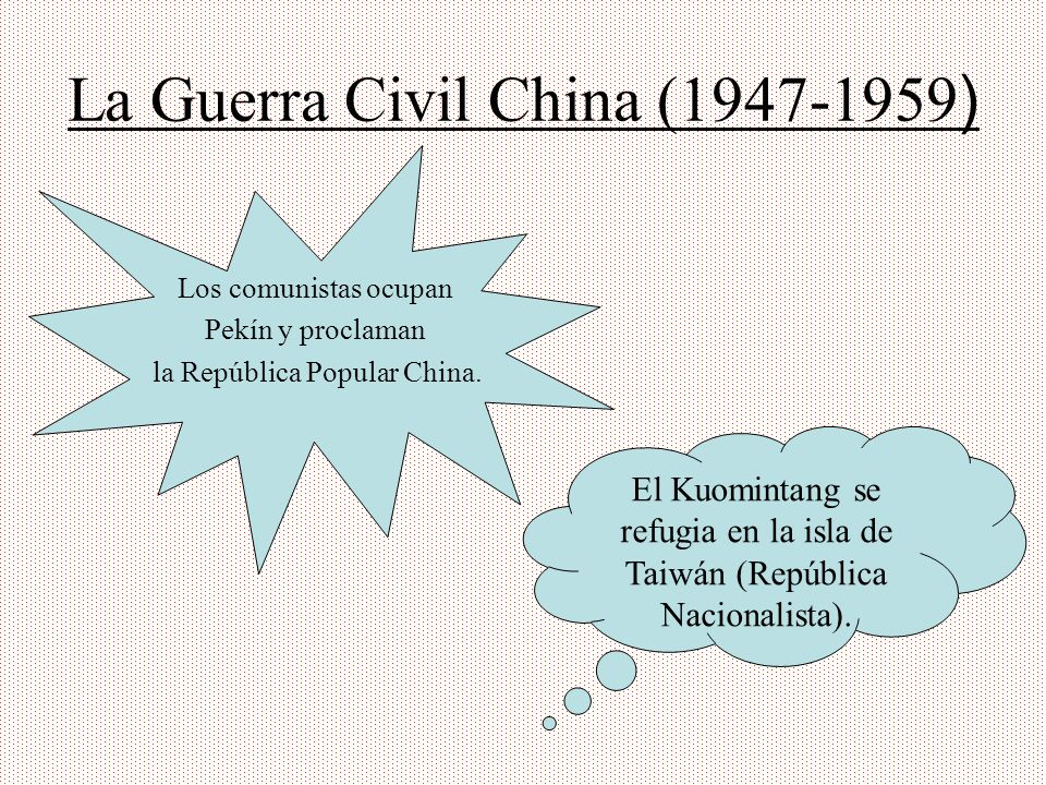 La Guerra Civil China (1947-1959)