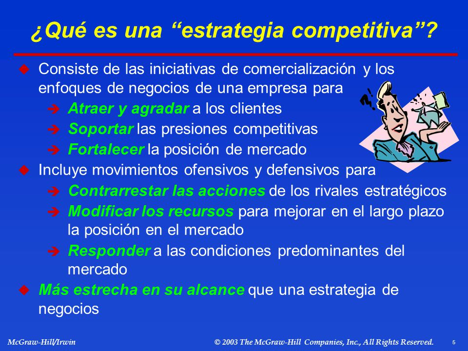 ¿Qué es una estrategia competitiva