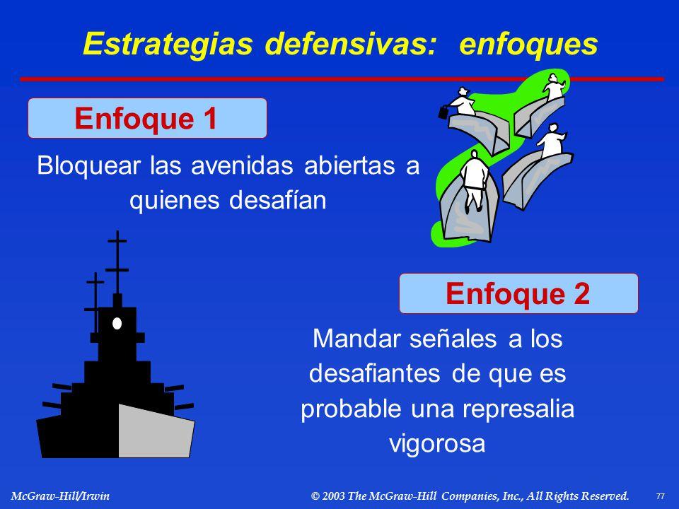 Estrategias defensivas: enfoques