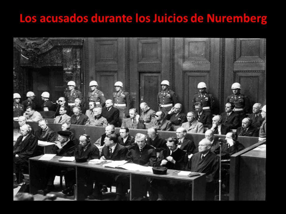 Los acusados durante los Juicios de Nuremberg