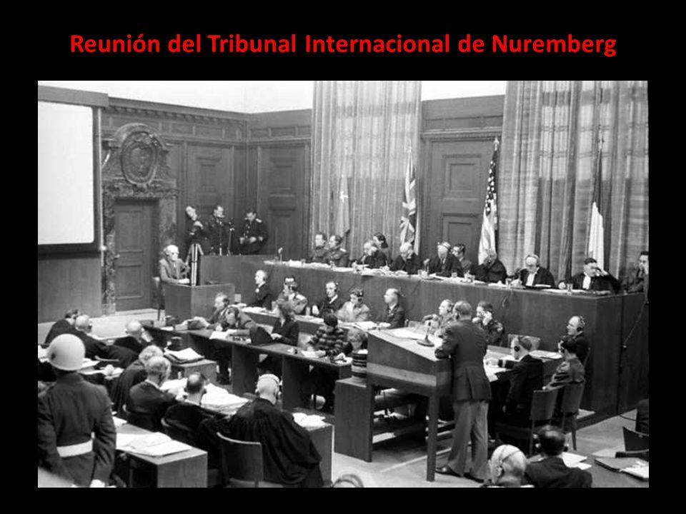 Reunión del Tribunal Internacional de Nuremberg