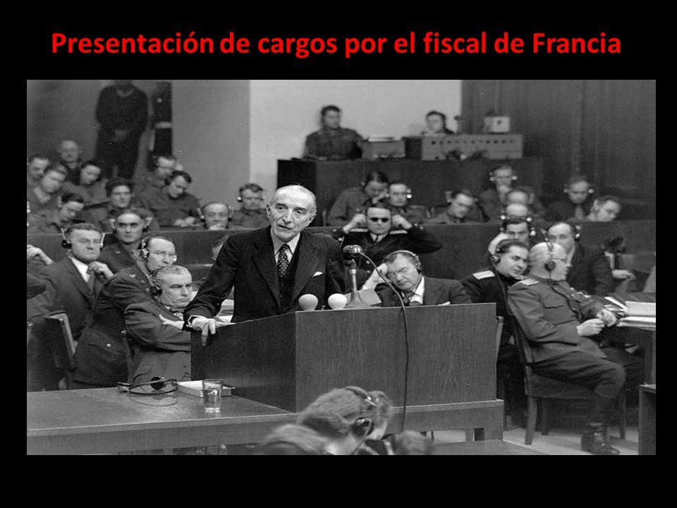 Presentación de cargos por el fiscal de Francia