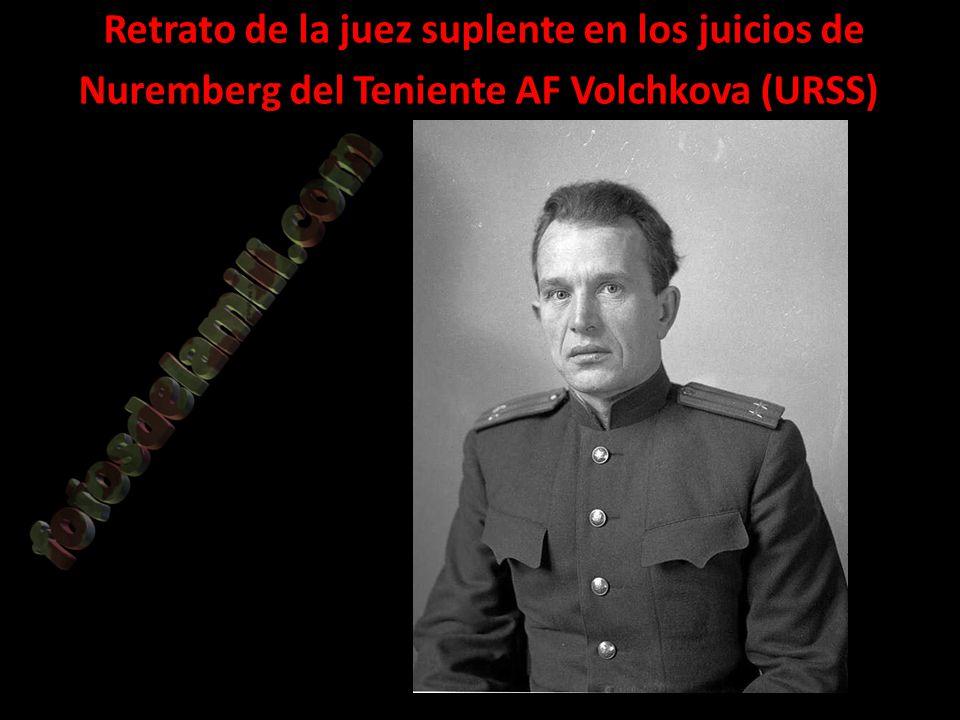 Retrato de la juez suplente en los juicios de Nuremberg del Teniente AF Volchkova (URSS)