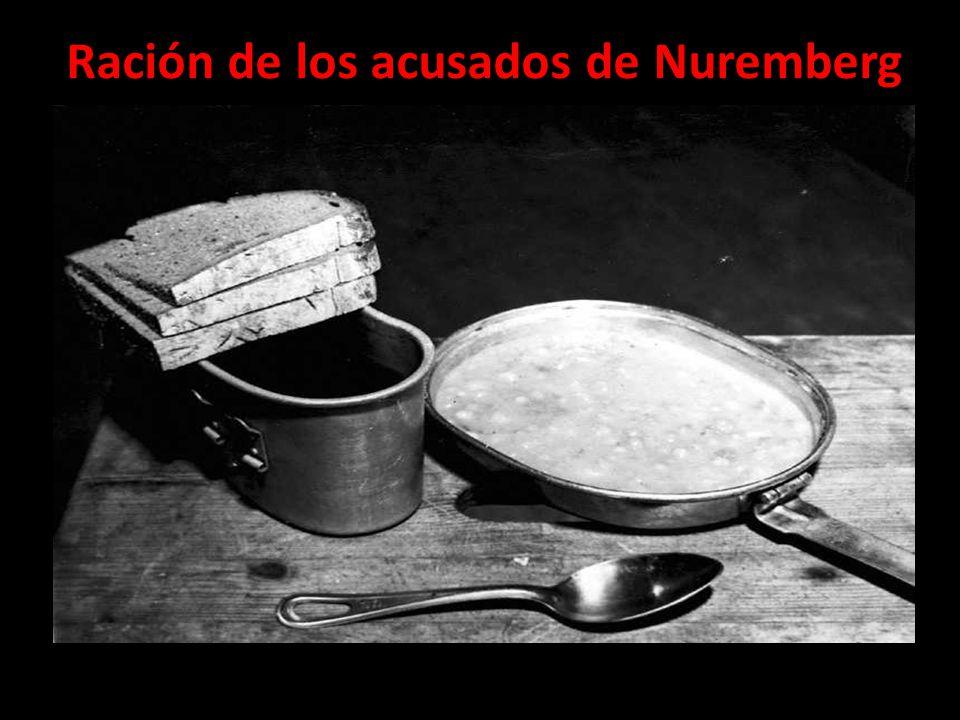 Ración de los acusados de Nuremberg