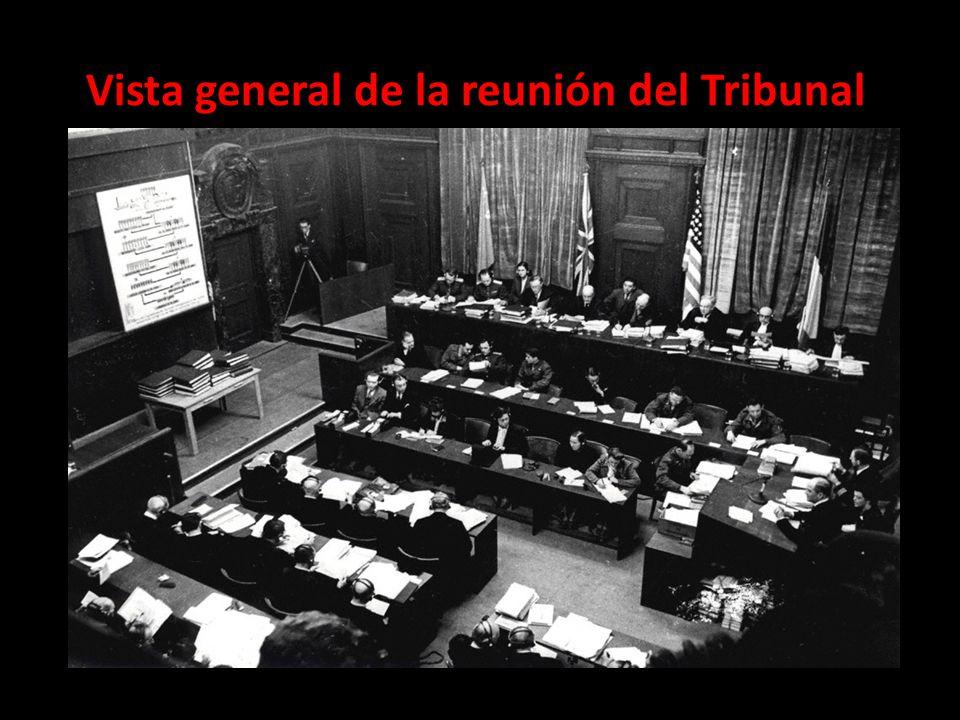 Vista general de la reunión del Tribunal