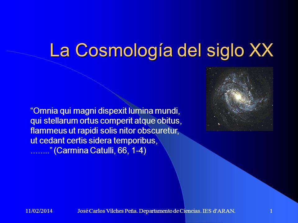La Cosmología del siglo XX