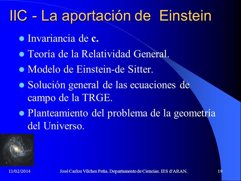 IIC - La aportación de Einstein