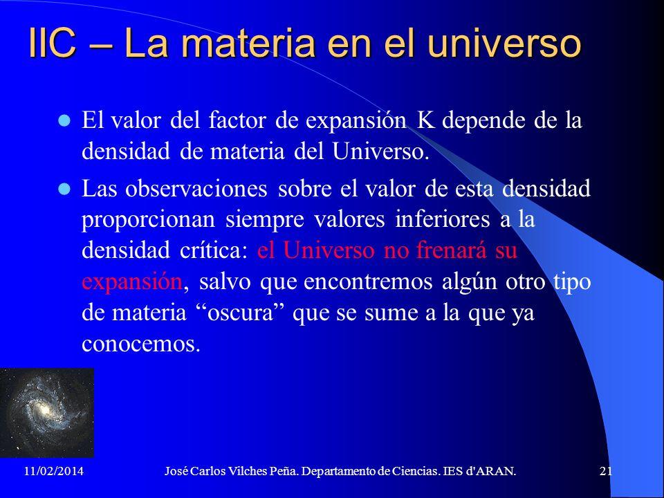 IIC – La materia en el universo