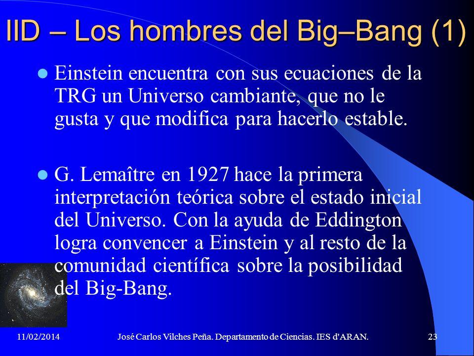 IID – Los hombres del Big–Bang (1)