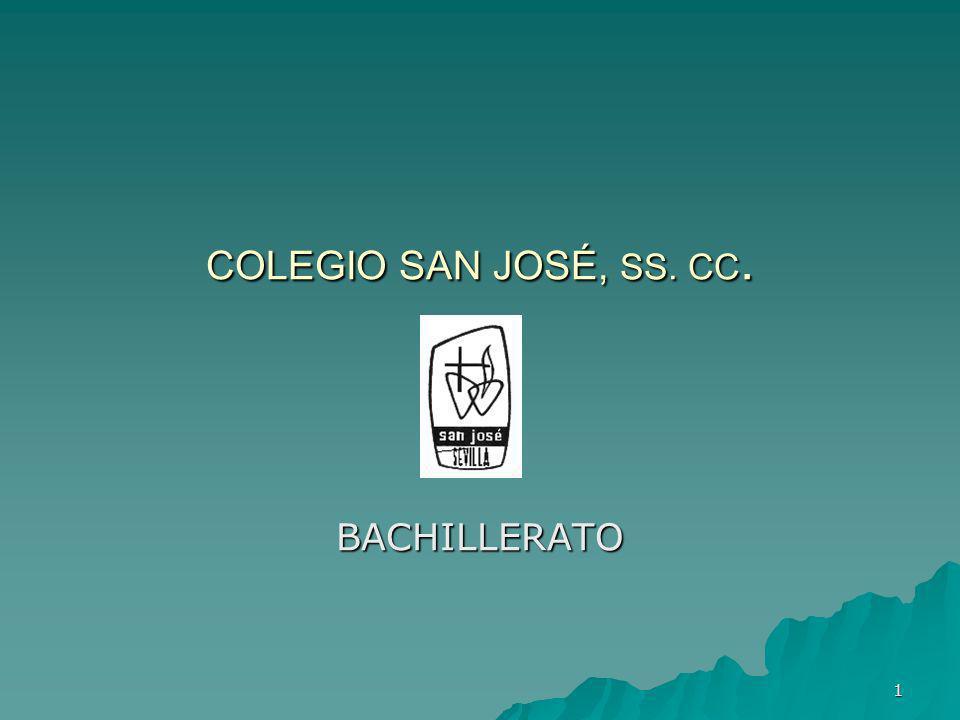 COLEGIO SAN JOSÉ, SS. CC. BACHILLERATO