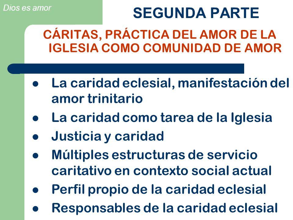 CÁRITAS, PRÁCTICA DEL AMOR DE LA IGLESIA COMO COMUNIDAD DE AMOR