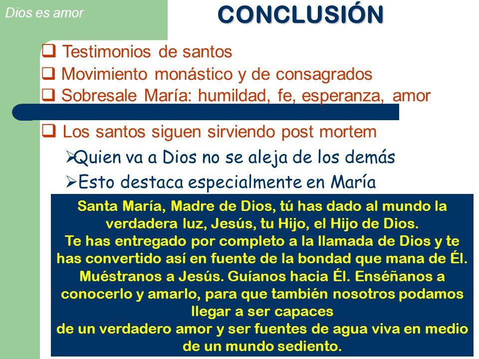 CONCLUSIÓN Testimonios de santos