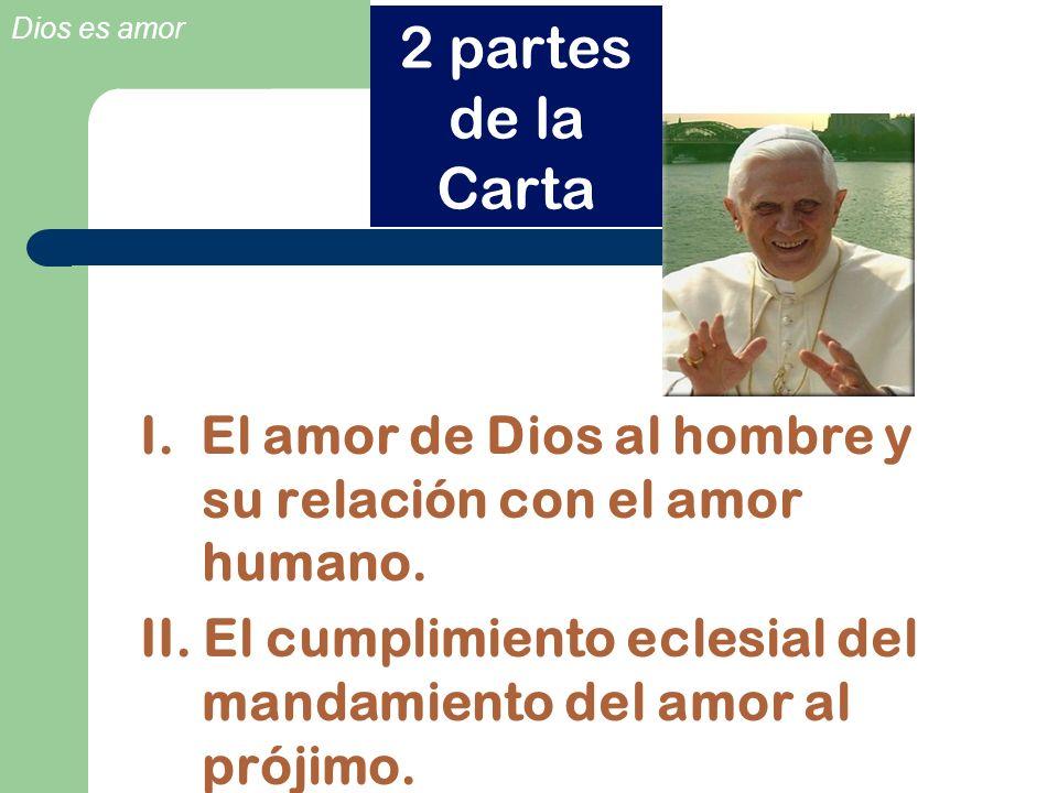 2 partes de la Carta I. El amor de Dios al hombre y su relación con el amor humano.
