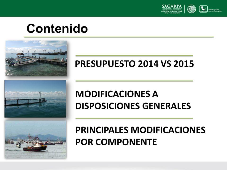 Contenido PRESUPUESTO 2014 VS 2015