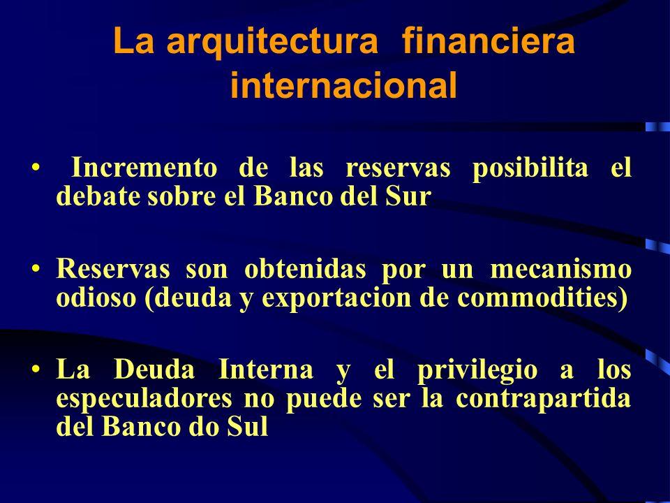 La arquitectura financiera internacional