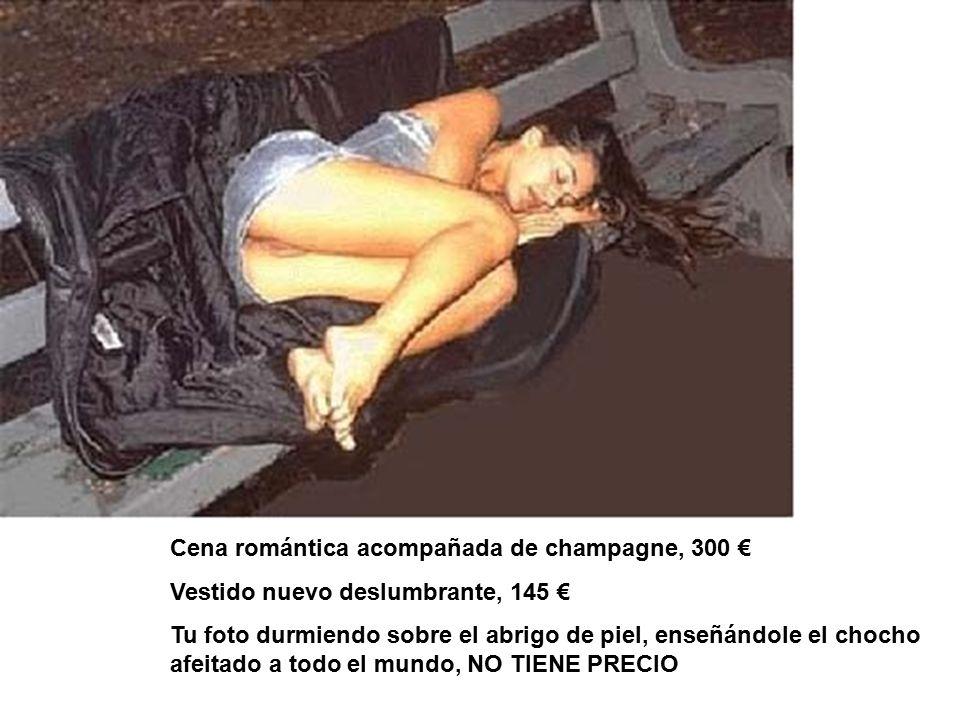 Cena romántica acompañada de champagne, 300 €