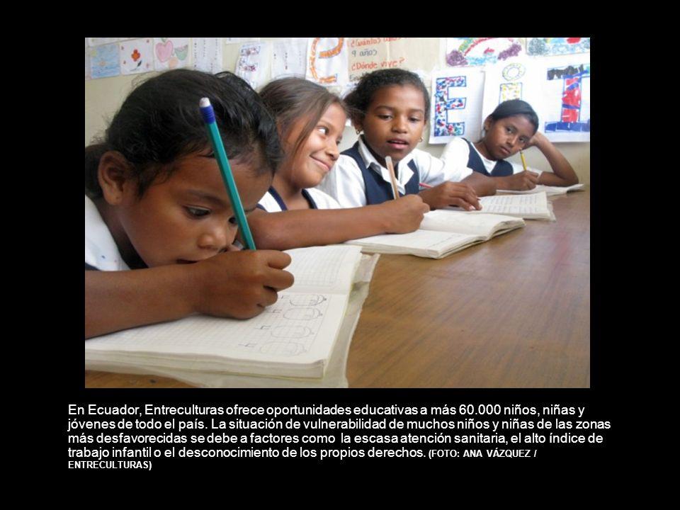 En Ecuador, Entreculturas ofrece oportunidades educativas a más 60