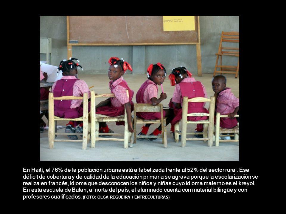 En Haití, el 76% de la población urbana está alfabetizada frente al 52% del sector rural.
