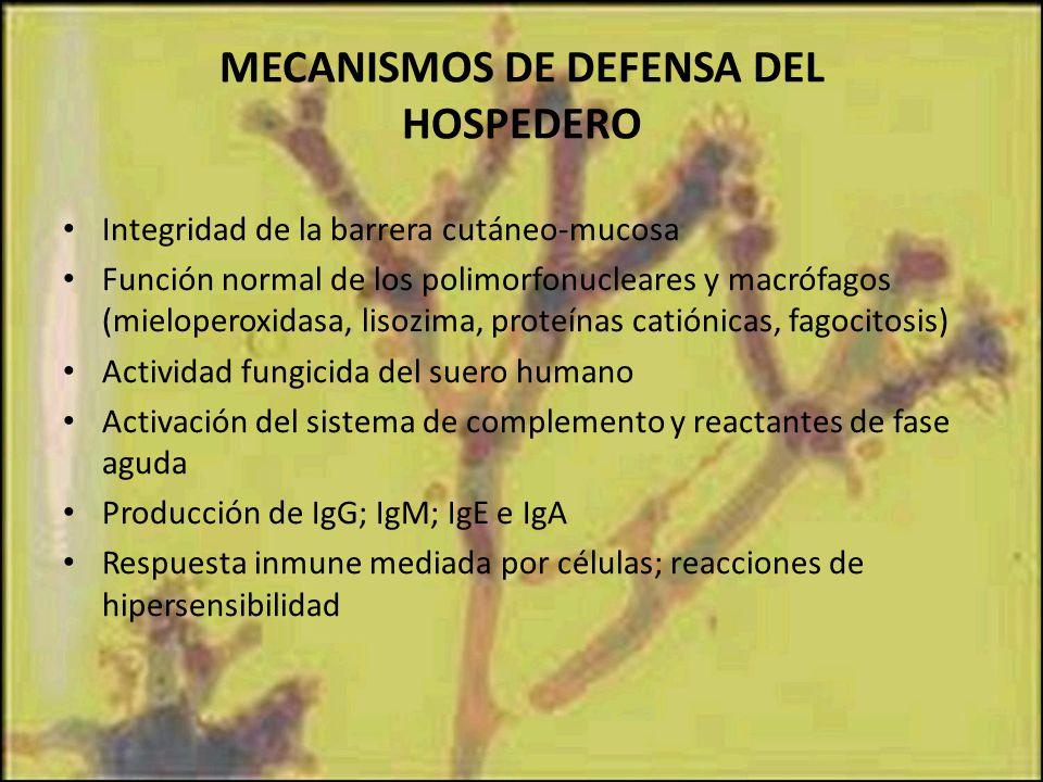 MECANISMOS DE DEFENSA DEL HOSPEDERO