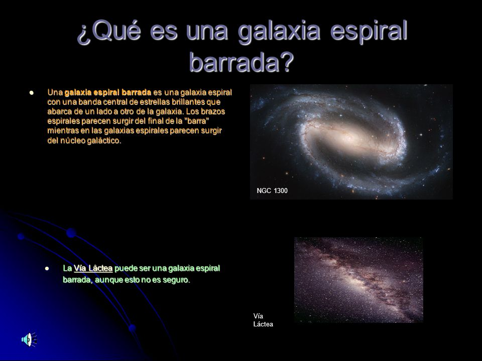¿Qué es una galaxia espiral barrada
