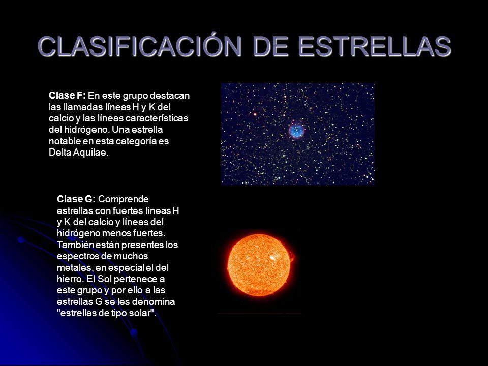 CLASIFICACIÓN DE ESTRELLAS