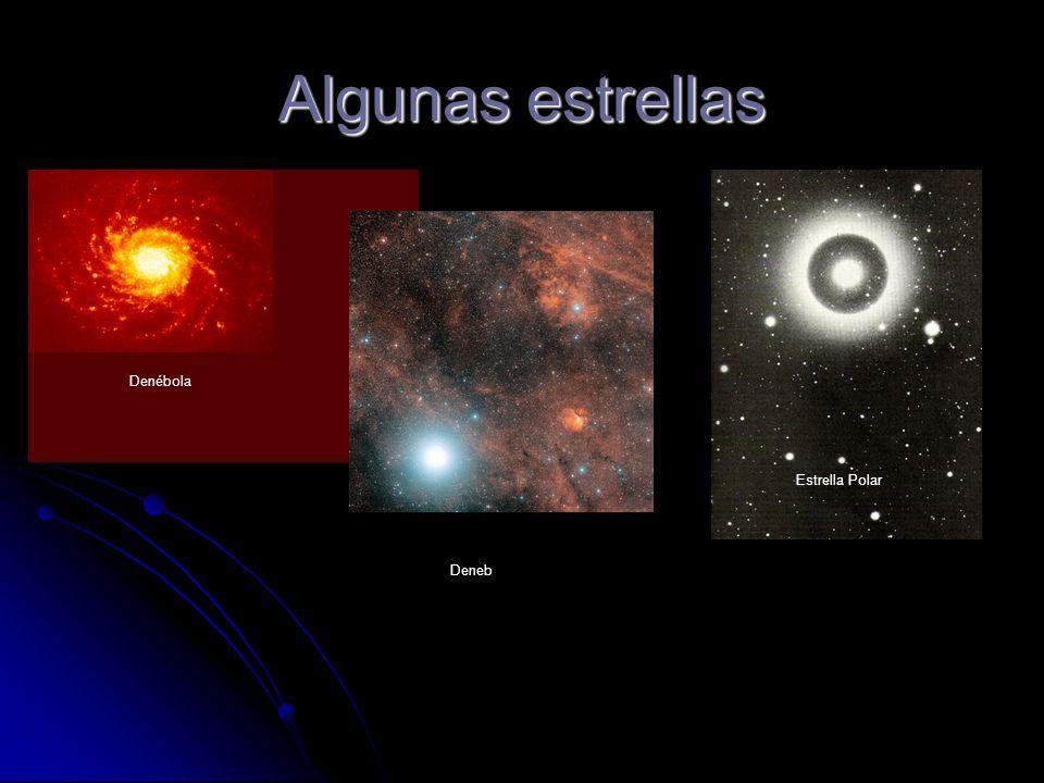 Algunas estrellas Denébola Estrella Polar Deneb