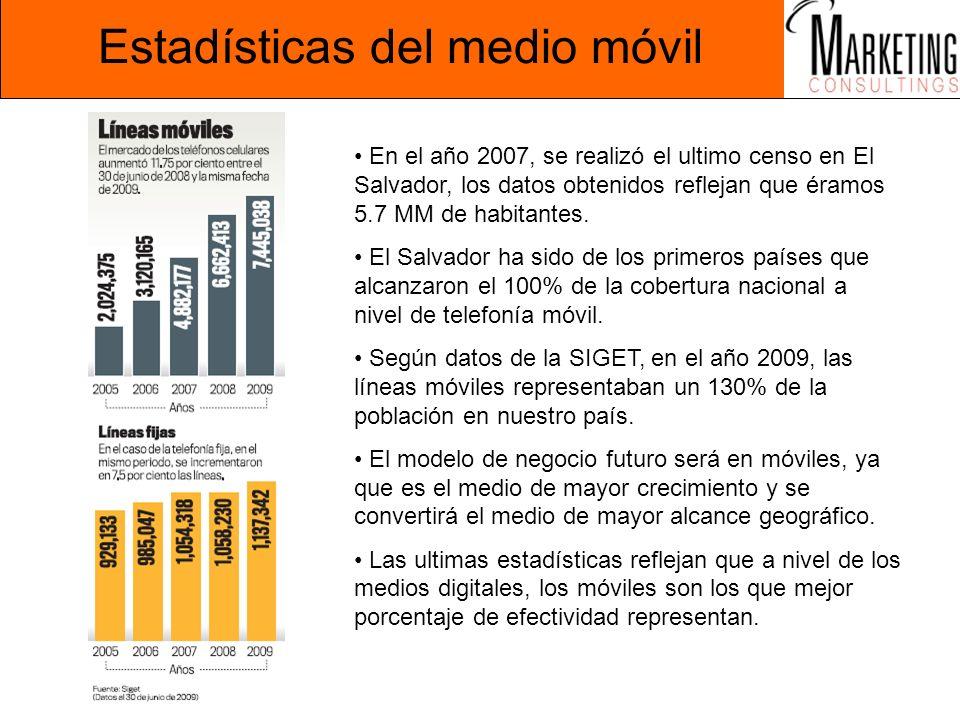 Estadísticas del medio móvil