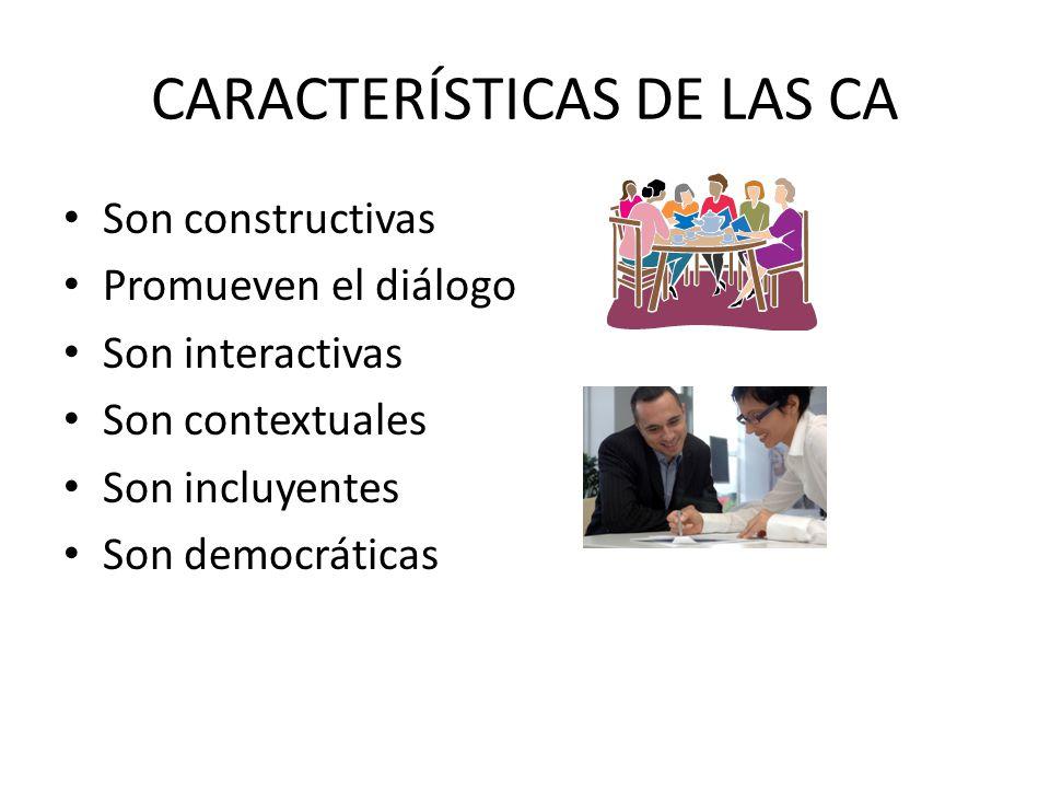 CARACTERÍSTICAS DE LAS CA