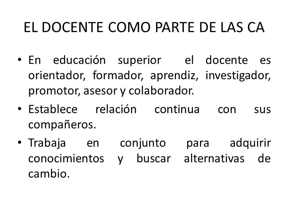 EL DOCENTE COMO PARTE DE LAS CA