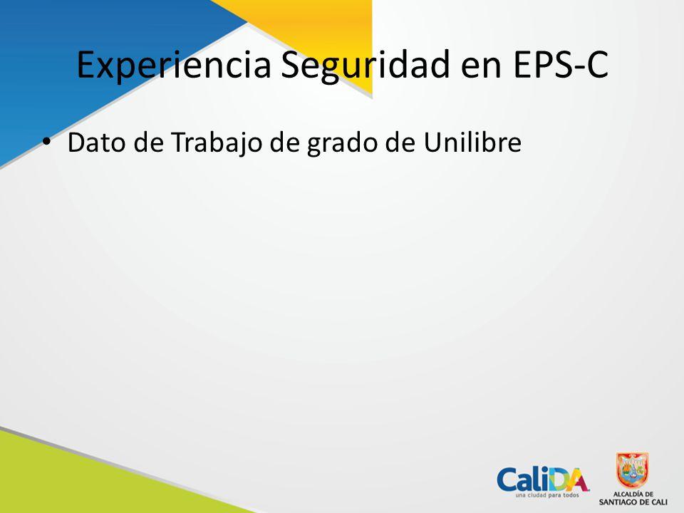 Experiencia Seguridad en EPS-C