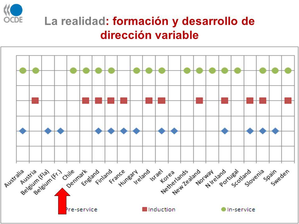 La realidad: formación y desarrollo de dirección variable