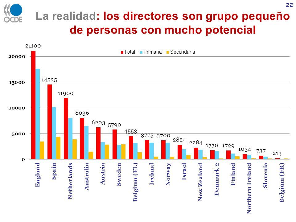 La realidad: los directores son grupo pequeño de personas con mucho potencial