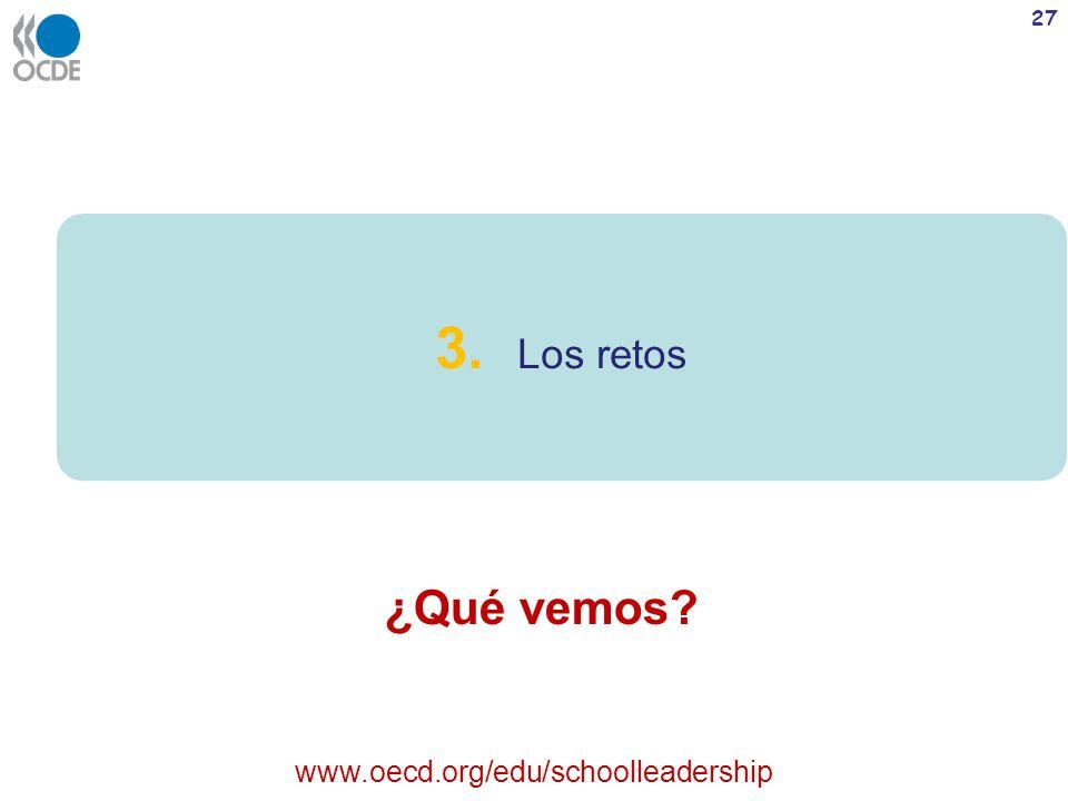 3. Los retos ¿Qué vemos www.oecd.org/edu/schoolleadership
