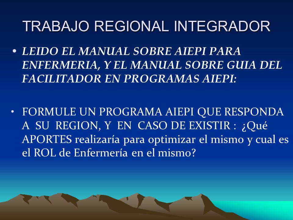 TRABAJO REGIONAL INTEGRADOR