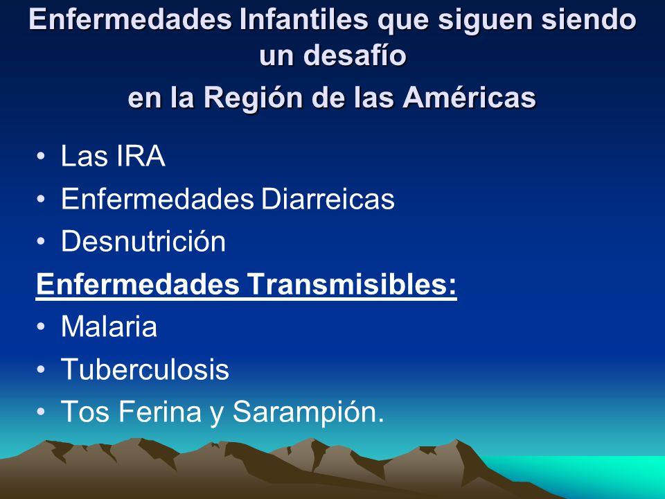 Enfermedades Infantiles que siguen siendo un desafío en la Región de las Américas