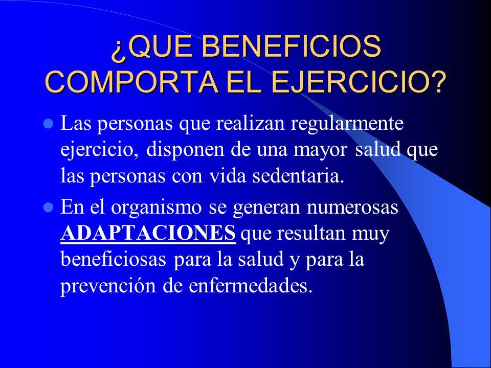 ¿QUE BENEFICIOS COMPORTA EL EJERCICIO