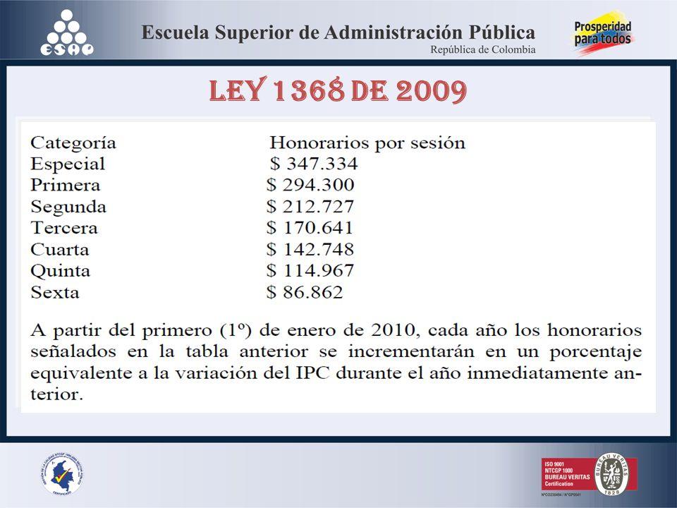 LEY 1368 DE 2009