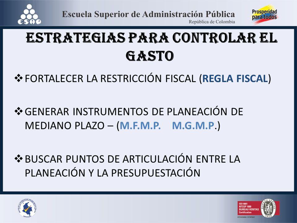 ESTRATEGIAS PARA CONTROLAR EL GASTO