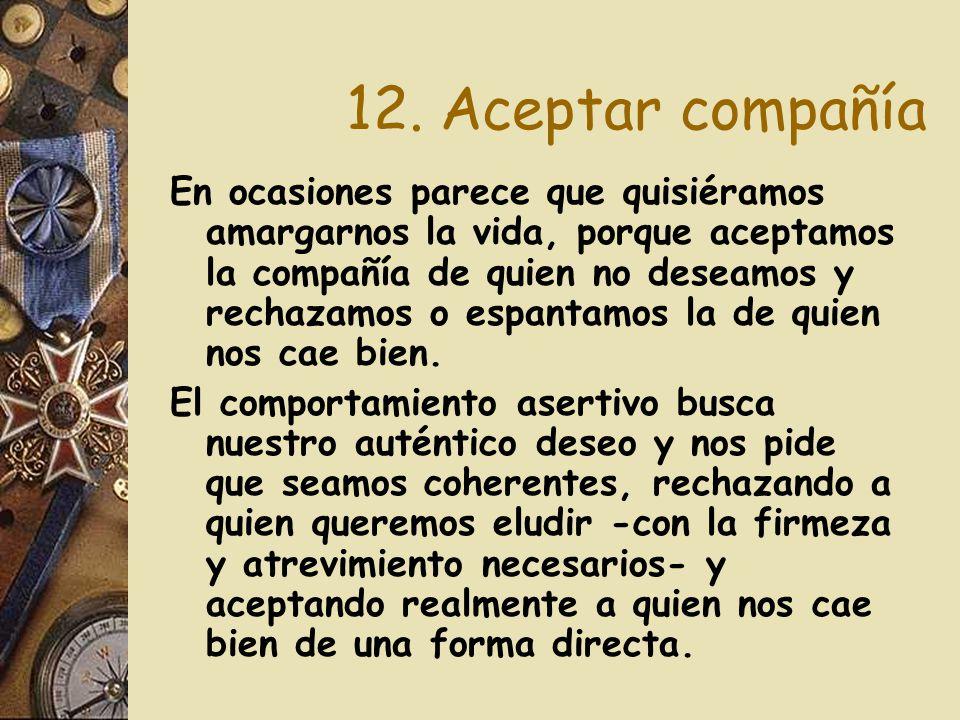 12. Aceptar compañía