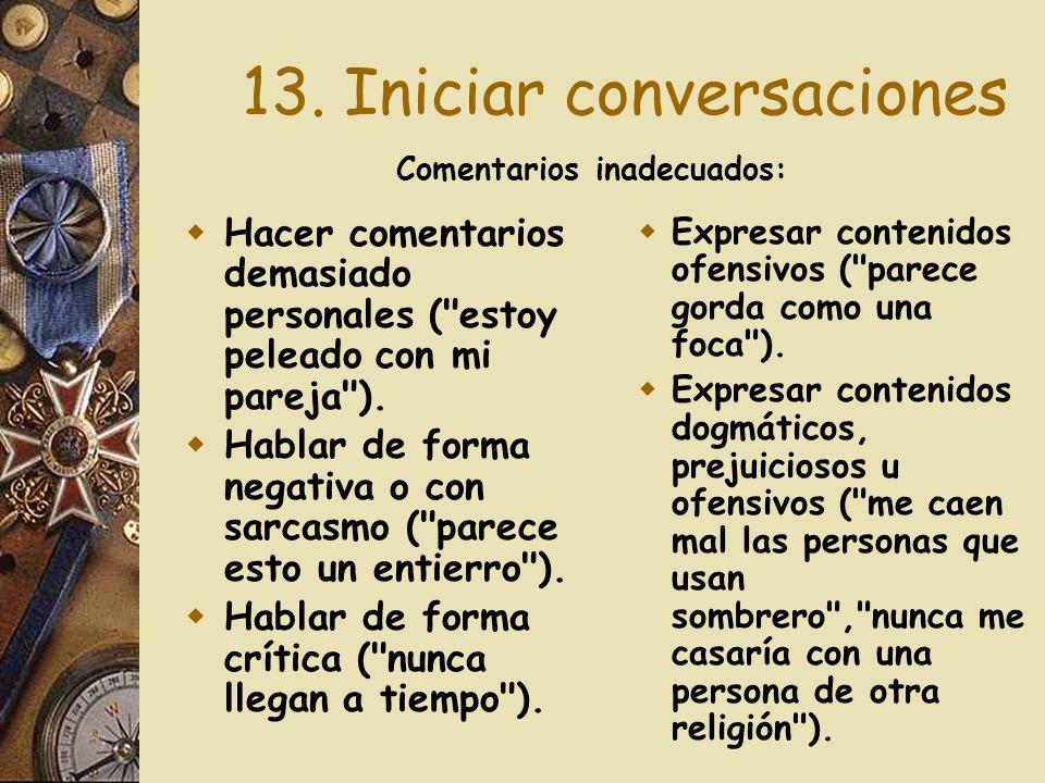 13. Iniciar conversaciones